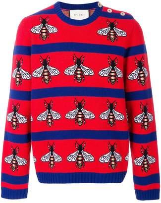 Gucci Bee intarsia jumper