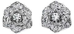 Piaget Diamond Rose Earrings in 18K White Gold