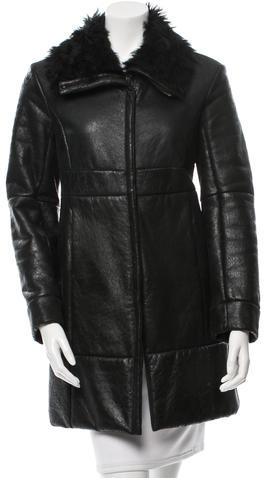 prada Prada Shearling Short Coat