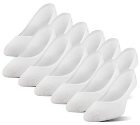 Peds Women's Ultra Low Cut Coolmax Liner with Gel Tab, 6 Pairs