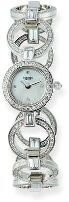 Hermes Faubourg Ring 18k White Gold Diamond Watch