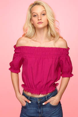 Line & Dot Nikia Fuchsia Top