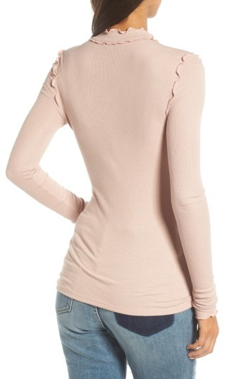 Women's Hinge Long Sleeve Ruffle Tee 5