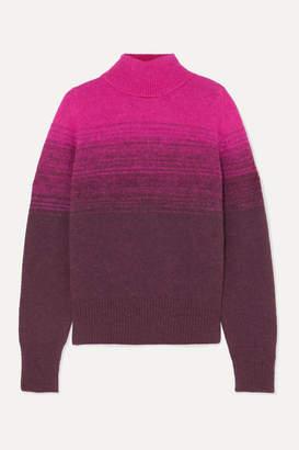 Dries Van Noten Taraz Ombre Knitted Turtleneck Sweater - Fuchsia