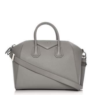 Givenchy Antigona Tote Sugar Goatskin Medium Pearl Grey