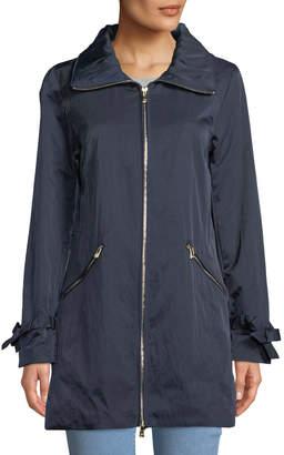 Karl Lagerfeld Paris Zip-Front A-Line Crinkle Packable Jacket
