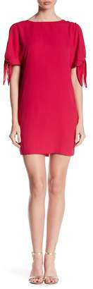 Vince Camuto Tie Sleeve Solid Shift Dress
