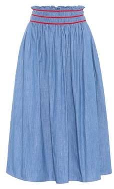 Miu Miu Cotton midi skirt