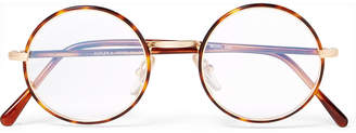 Cutler and Gross Round-Frame Tortoiseshell Acetate and Gold-Tone Optical Glasses