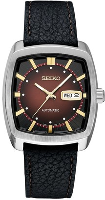 Seiko Men's Recraft Leather Automatic Watch - SNKP25