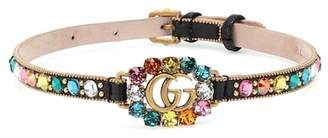 Gucci GG embellished leather choker