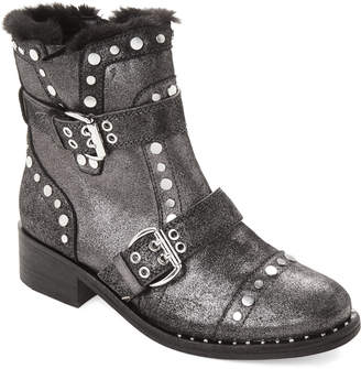 3972dfff1f4bc6 Sam Edelman Pewter Drea Studded Leather Ankle Boots