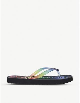 MICHAEL Michael Kors Logo-print rubber flip-flops