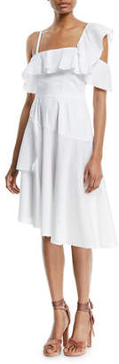 KENDALL + KYLIE One-Shoulder Asymmetric Ruffle Dress