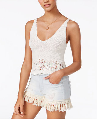 American Rag Cotton Cropped Knit Tank Top, Created for Macy's $39.50 thestylecure.com