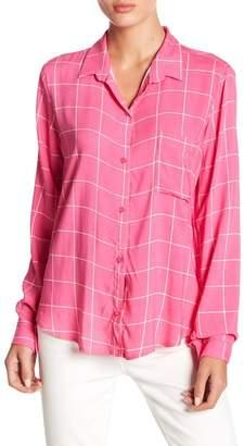 Lush Patterned Button Down Shirt