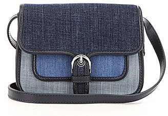 MICHAEL Michael Kors Cooper Color Block Denim Cross-Body Bag $158 thestylecure.com