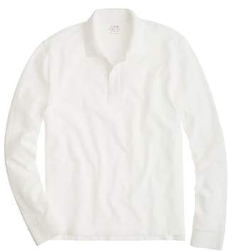 J.Crew Long-sleeve classic piqué polo shirt