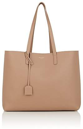 Saint Laurent Women's East-West Shopper Leather Tote Bag