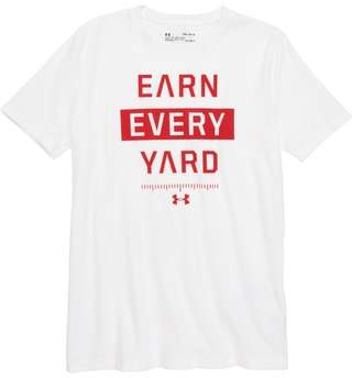 Under Armour Earn Every Yard HeatGear(R) Graphic T-Shirt
