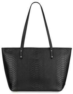 GiGi New York Taylor Mini Python-Embossed Leather Tote