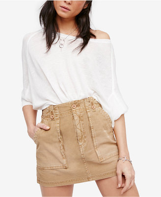 Free People Cotton Mini Skirt $68 thestylecure.com
