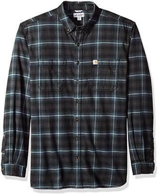 Carhartt Men's Big and Tall Rugged Flex Hamilton Plaid Shirt