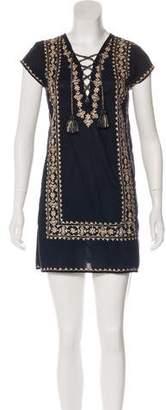 Calypso Mini Embroidery Dress