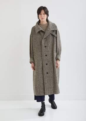Y's Convertible Collar Herringbone Coat