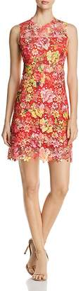 T Tahari Lincoln Sleeveless Floral-Lace Dress