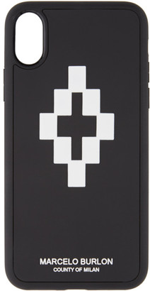 Marcelo Burlon County of Milan Black and White 3D iPhone X Case