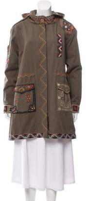 Calypso Short Embroidered Coat w/ Tags