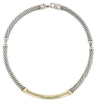 David Yurman Two-Tone Metro Cable Collar Necklace yellow Two-Tone Metro Cable Collar Necklace