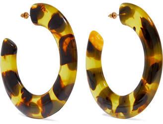 Cult Gaia Kennedy Tortoiseshell Acrylic Hoop Earrings - one size
