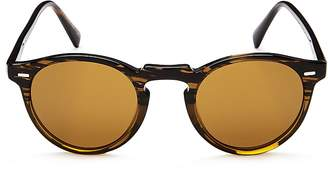 Oliver Peoples Men's Gregory Peck Round Sunglasses, 47mm