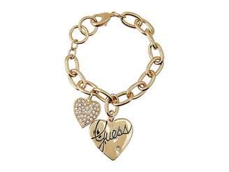 GUESS Two Heart Charm Bracelet