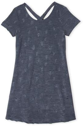 Erge Girls 7-16) Shredded X-Back Dress