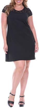 WHITE MARK White Mark Lace Cutout Sheath Dress - Plus