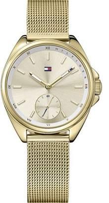 Tommy Hilfiger Women's Gold Tone Steel Mesh Band Watch 1781757