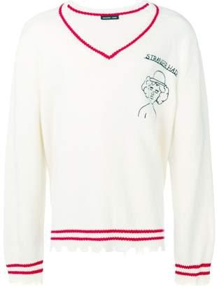 Riccardo Comi loose v-neck sweater