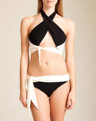 Lisa Marie Fernandez Swimwear Crepe Jessica Bikini