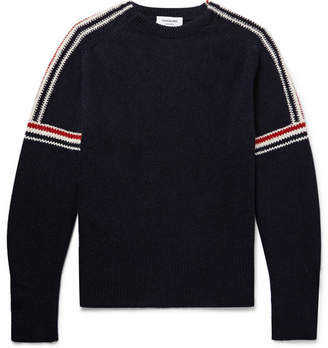 Thom Browne Striped-Intarsia Wool And Mohair-Blend Sweater