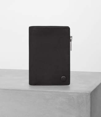 AllSaints Mast Leather Zip Wallet