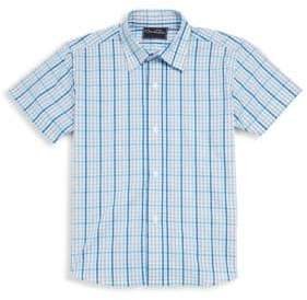 Oscar de la Renta Little Boy's & Boy's Checkered Cotton Collared Shirt