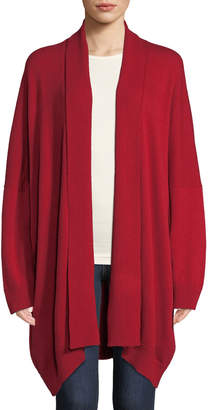 eskandar Shawl-Collar Open-Front Merino Wool Cardigan