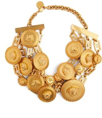 Gold Medusa embellished choker