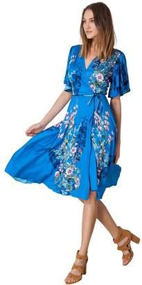 Hale Bob Heidi Satin Wrap Dress