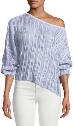 Splendid Sierra Madre Blouson-Sleeve Pullover Sweater