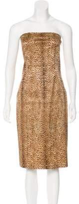 Just Cavalli Strapless Metallic Dress
