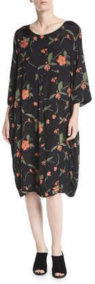 Masai Floral-Print Shantung Dress